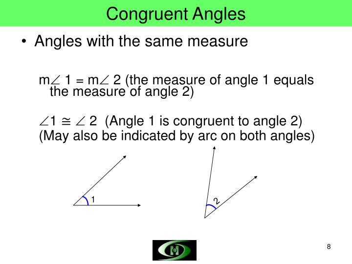 Congruent Angles