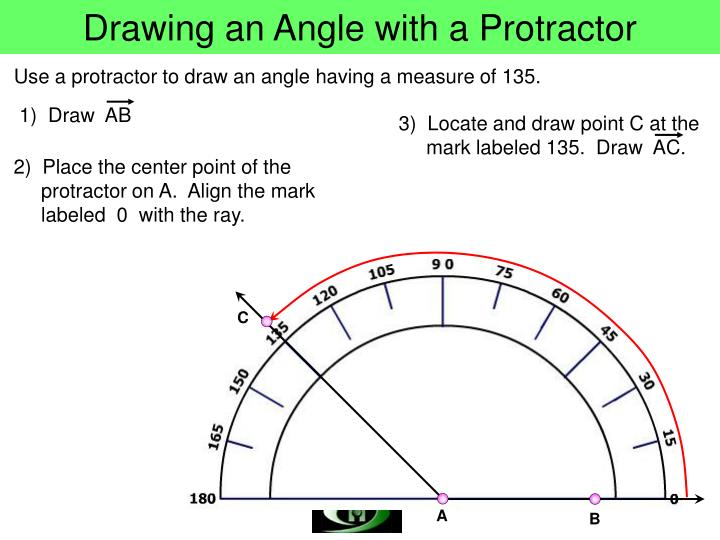 Drawing an Angle with a Protractor