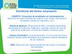 iniciativas del sector empresario