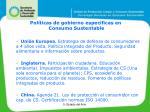 pol ticas de gobierno espec ficas en consumo sustentable1