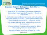 segunda reuni n de expertos de gobierno nicaragua 2003