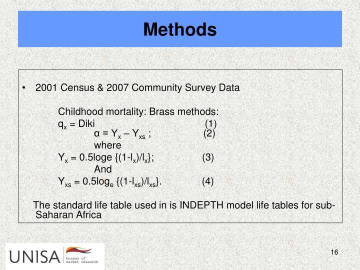 2001 Census & 2007 Community Survey Data