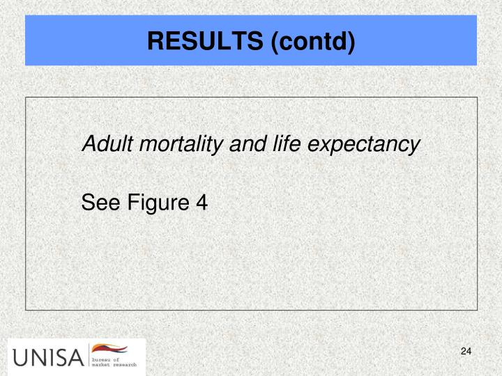 Adult mortality and life expectancy