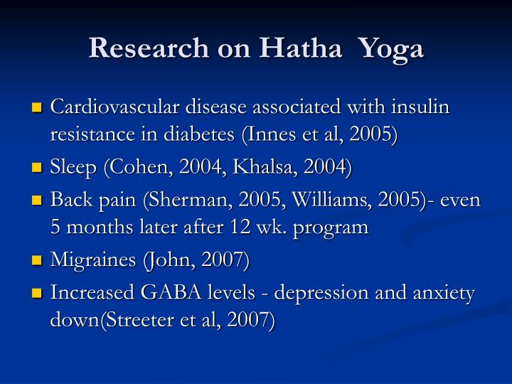 Research on Hatha  Yoga