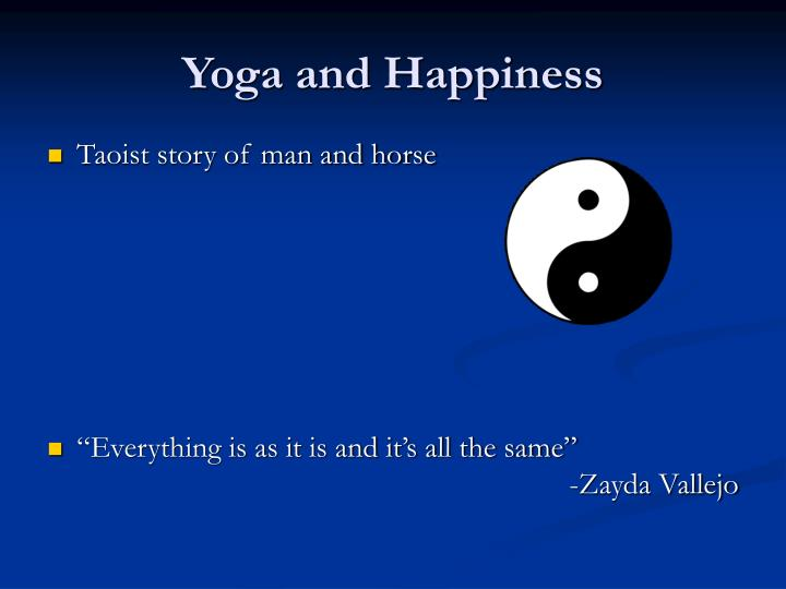 Yoga and Happiness