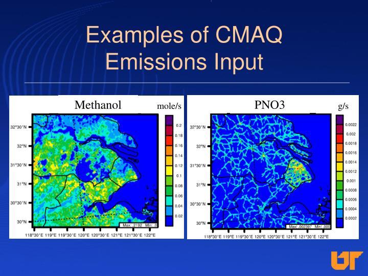 Examples of CMAQ              Emissions Input