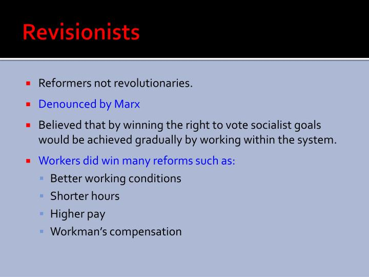 Revisionists