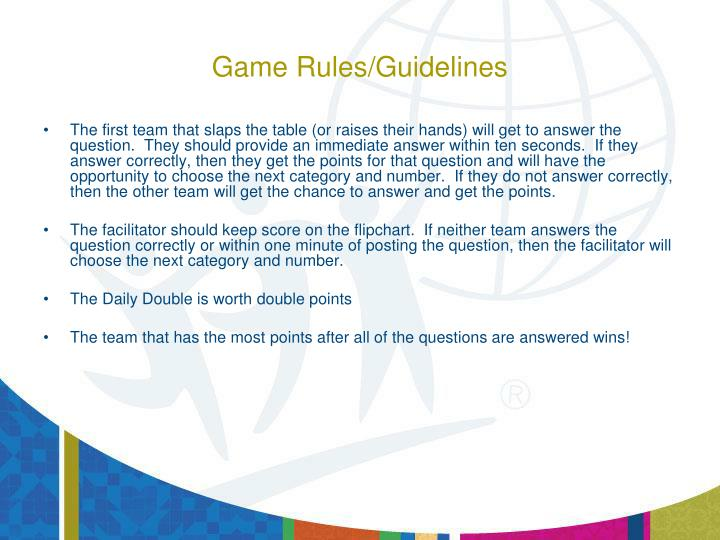 Game rules guidelines1