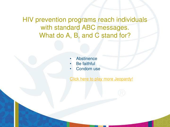 HIV prevention programs reach individuals
