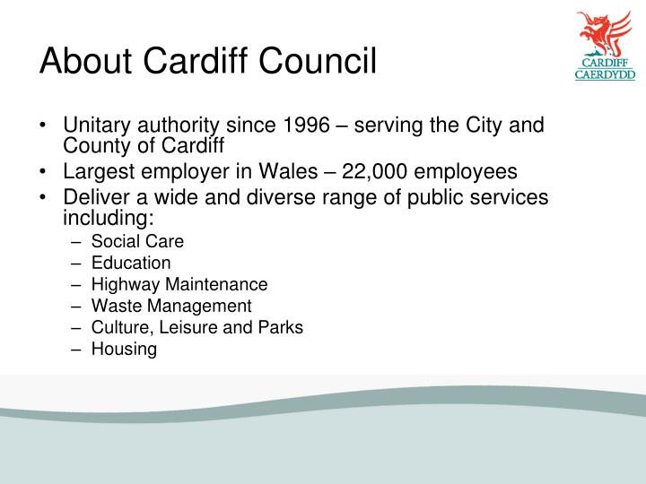 About Cardiff Council
