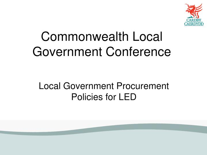 Commonwealth local government conference