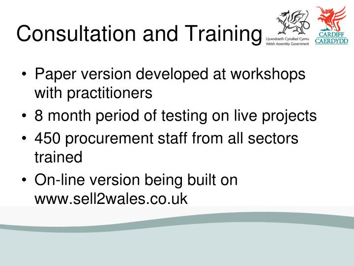 Consultation and Training