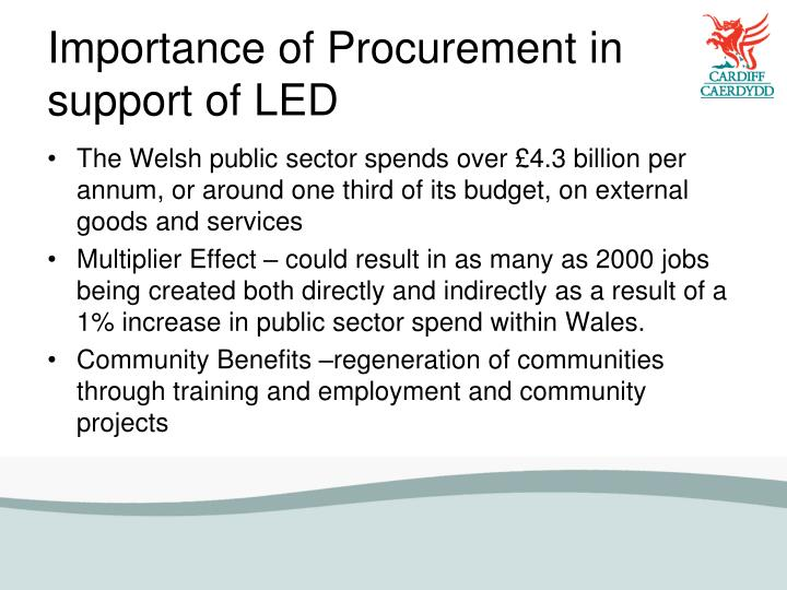 Importance of Procurement in support of LED