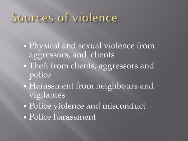 Sources of violence