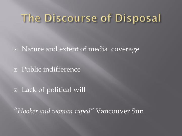 The Discourse of Disposal