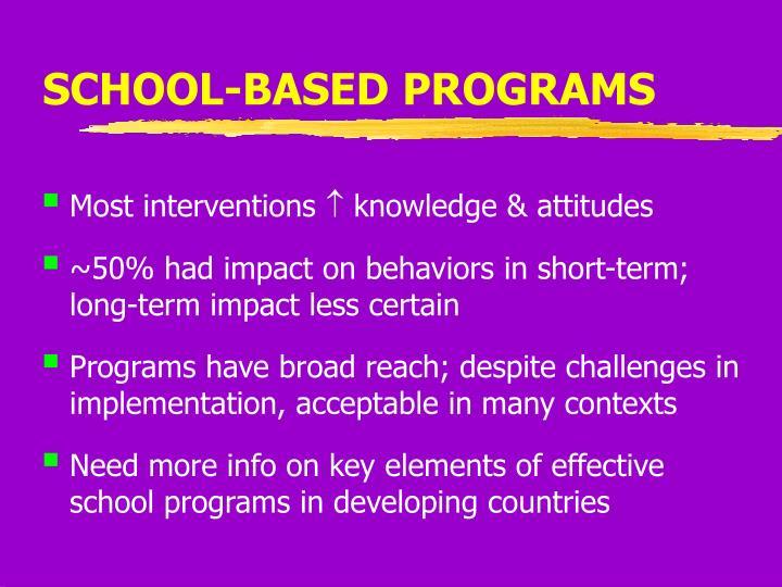 SCHOOL-BASED PROGRAMS