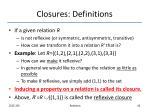 closures definitions