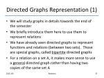 directed graphs representation 1
