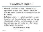 equivalence class 1