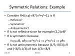 symmetric relations example