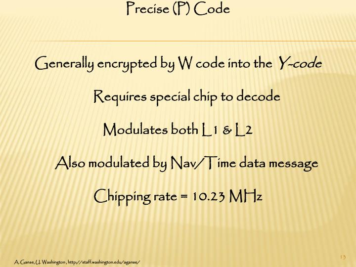 Precise (P) Code