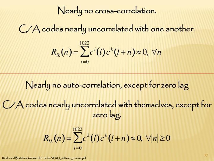 Nearly no cross-correlation.