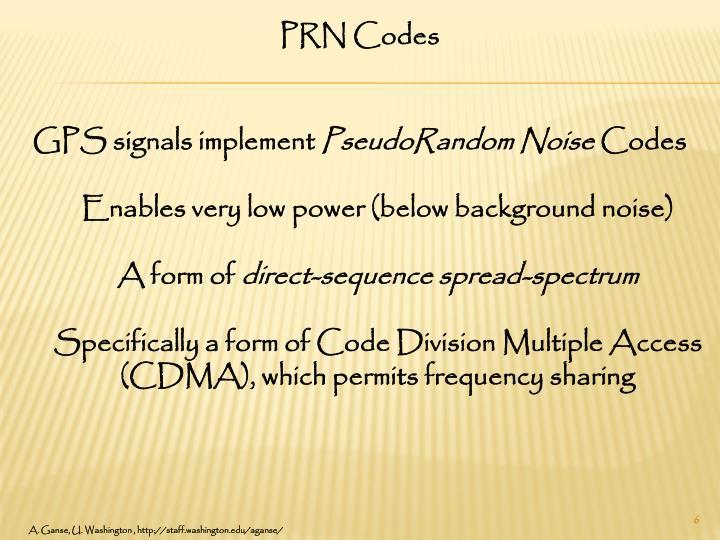 PRN Codes