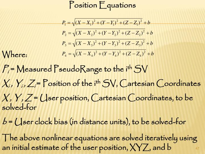 Position Equations