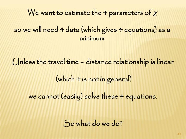 We want to estimate the 4 parameters of