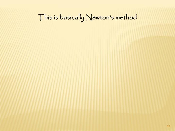 This is basically Newton's method