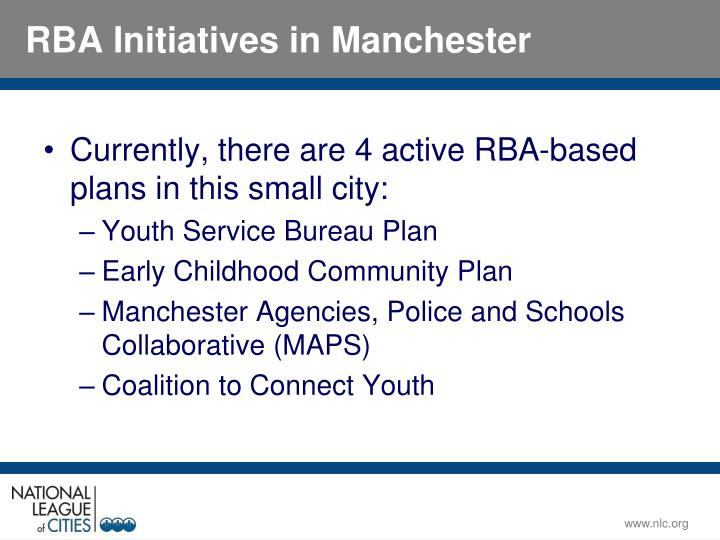 Currently, there are 4 active RBA-based plans in this small city