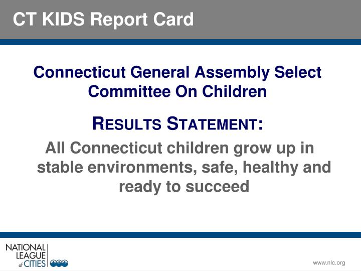 Connecticut General Assembly Select Committee On Children