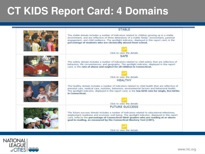 CT KIDS Report Card: 4 Domains
