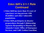 eden i r s 2 1 1 role continued