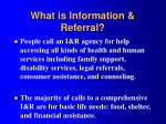 what is information referral