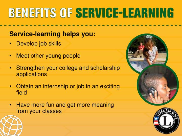 Service-learning helps you: