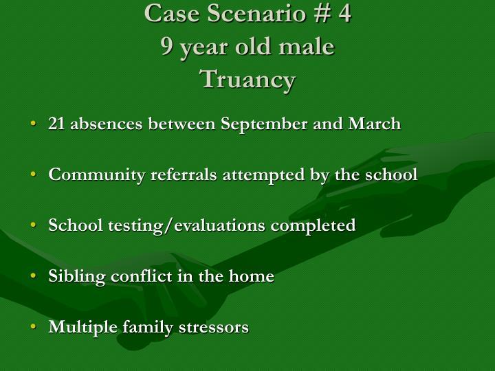 Case Scenario # 4