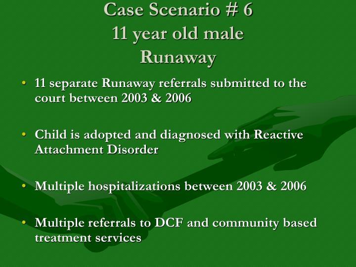 Case Scenario # 6
