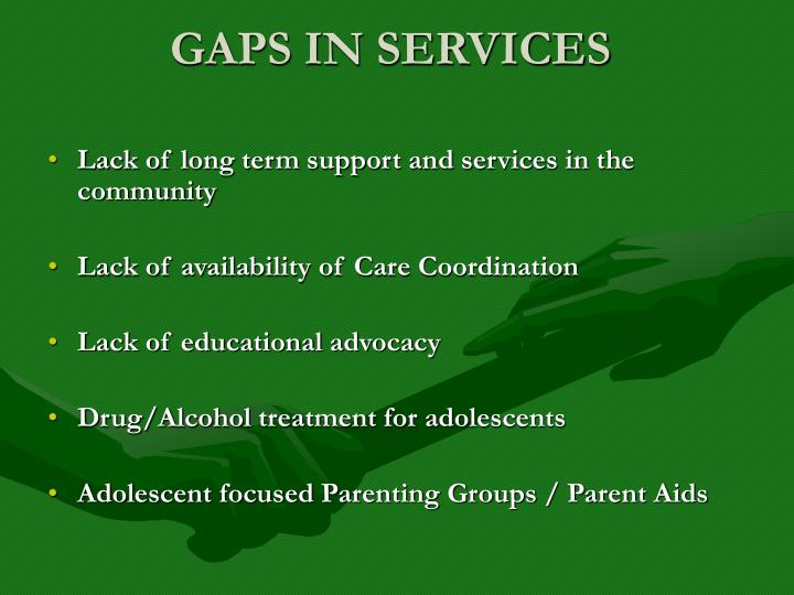 GAPS IN SERVICES