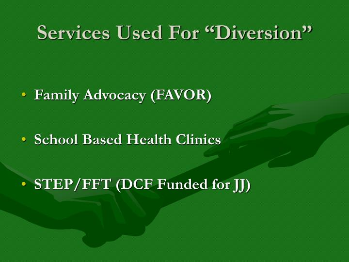 """Services Used For """"Diversion"""""""