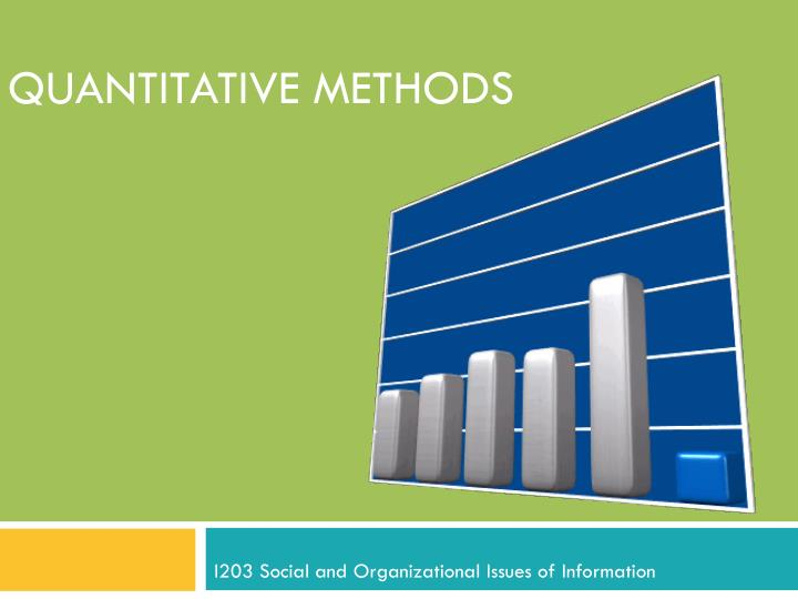 business research methodology quantitative statistics Quantitative marketing research is the application of quantitative research techniques to the research design data what type of methodology to use.