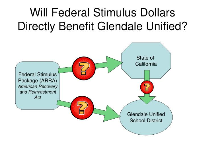 Will federal stimulus dollars directly benefit glendale unified