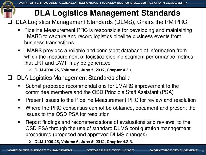 DLA Logistics Management Standards