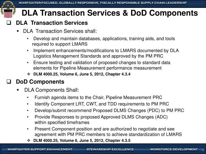 DLA Transaction Services & DoD Components