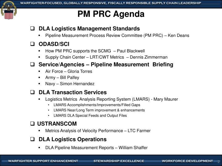 Pm prc agenda