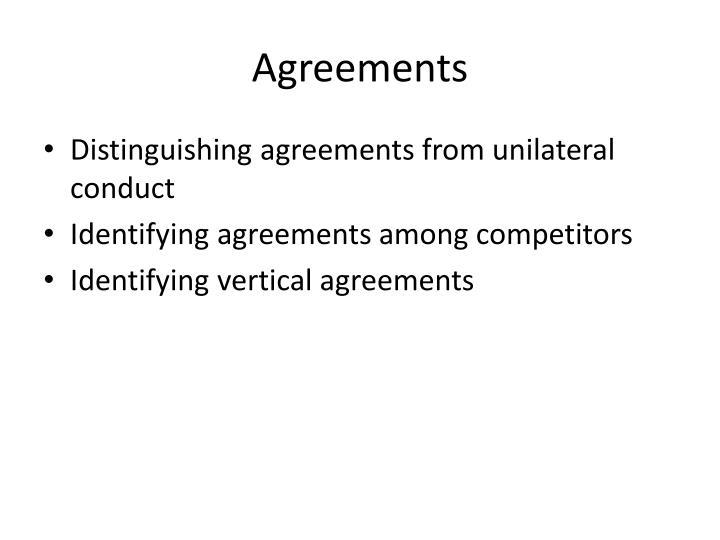 Agreements
