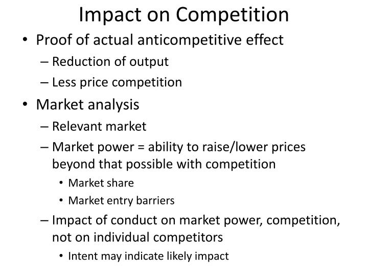 Impact on Competition