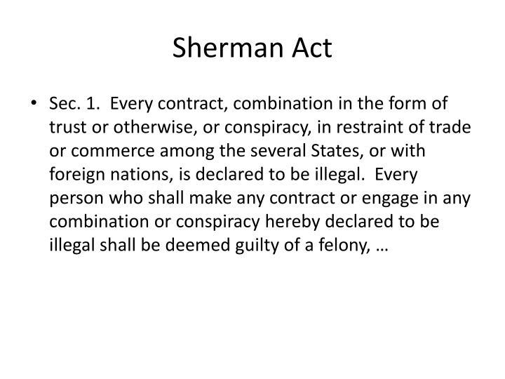 Sherman Act
