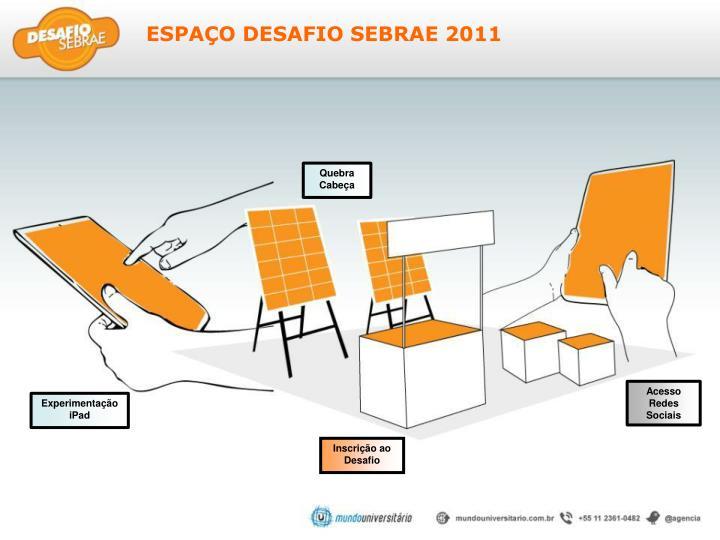 ESPAÇO DESAFIO SEBRAE 2011