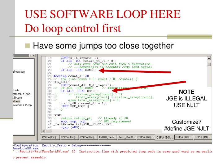 USE SOFTWARE LOOP HERE